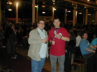 Paul Pearson and Steve Saunders at the Thanet 2010 Beer Festival
