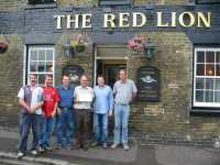 The lads outside the Red Lion, Dover.