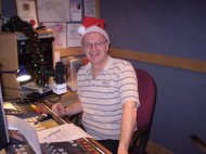 On air at kmfm Christmas Day 2009