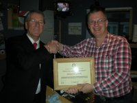 Getting an Award from the Ramsgate Rotary Club for services to the comunity