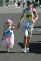 Runners of all age's took part and some in fany dress