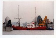 Ross Revenge  going through the Thames Barrier. Thanks to David Harris from Cliftonville for the photo