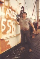 Johnny Painting the Ross in 1984!