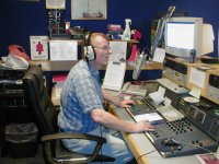 Johnny Lewis on air on Radio Caroline August 2007