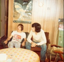 Mi Amigo mess room 1979, Tony Alan and Peter Chicago
