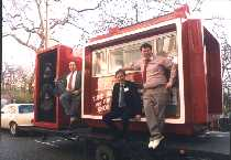 Ceaser, Roger Day and me on the Invicta Boom Box 1988