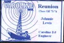 Radio Caroline reunion.ID Card 2004