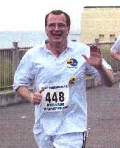 At the end of the 2005 fun run in Margate