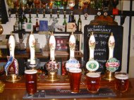 Fine selection or real ales