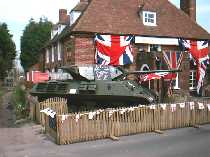 Front view of The Tuns and tank